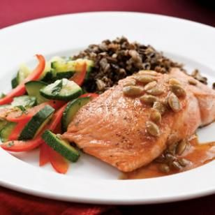 Salmon with Pepita-Lime Butter Recipe