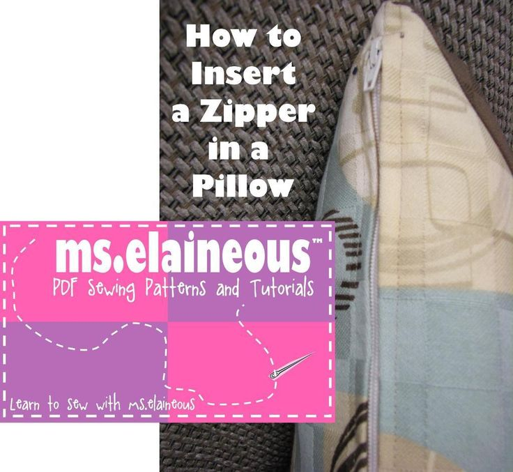 PDF of how to insert a zipper in a pillow: Free Sewing, Zipper Tutorial, Quilting Sewing, Sewing Projects, Sewing Pattern, Sewing Tips, Sewing Zippers