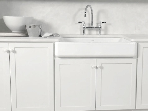 Self Trimming Farmhouse Sink : Self-Trimming Farmhouse Kitchen Sink For the Home Pinterest ...