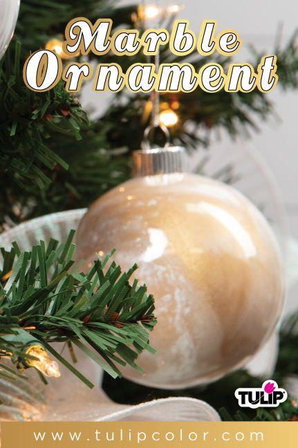 How To Make Marble Christmas Ornaments Turn Plain Glass Christmas
