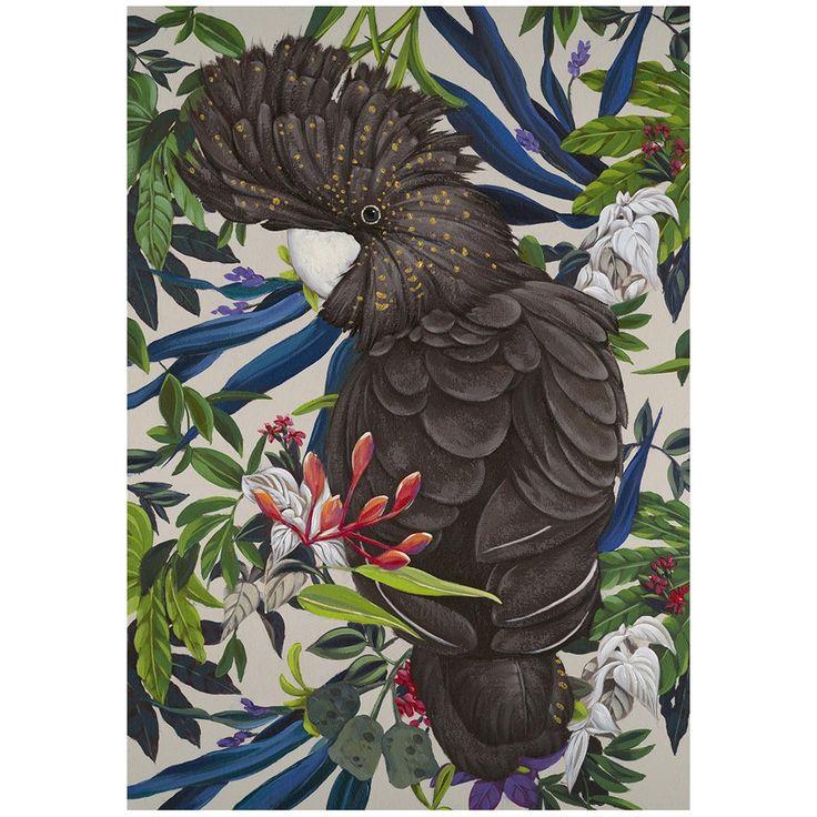 $62.90 Black Cockatoo Canvas Print 70*100*3cm