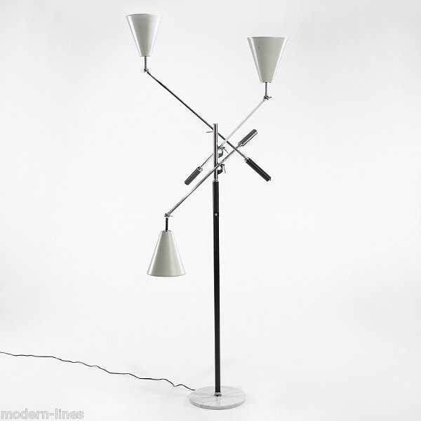minty arredoluce three arm floor lamp mid century modern floor lamps. Black Bedroom Furniture Sets. Home Design Ideas
