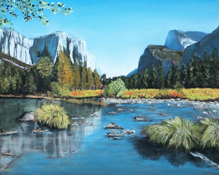 Yosemite pastel painting