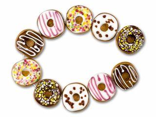donut lampwork bead strand