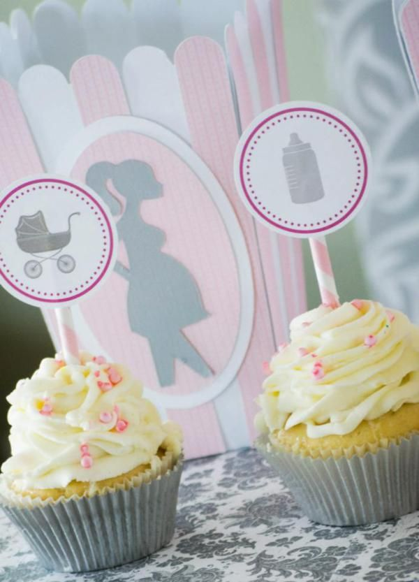 Pink Gray Princess Girl Themed Baby Shower Party