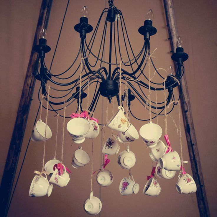 vintage yet gothic chandelier.