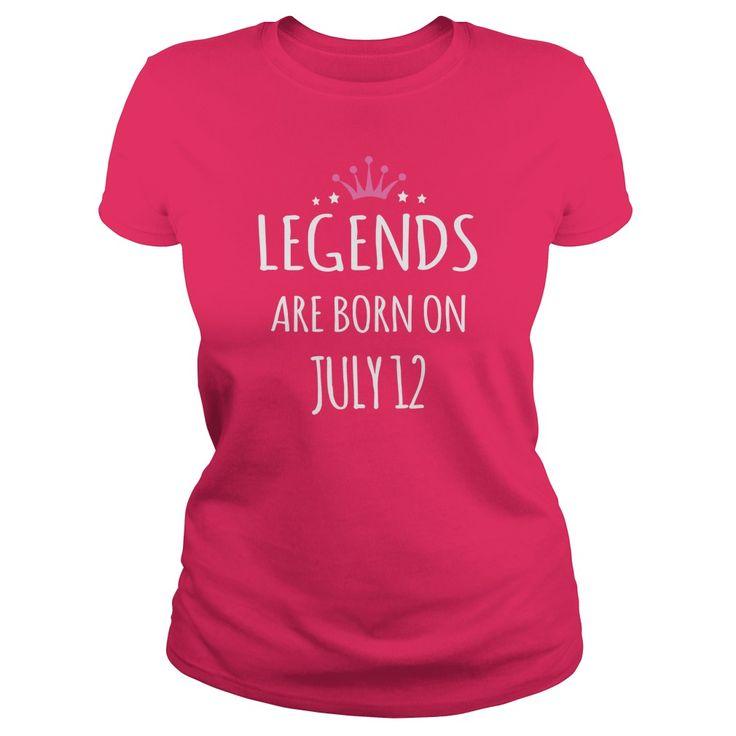 Born july 12 birthdays T-shirts, Legends are Born on july 12 shirts, Legends july 12 Tshirt, Legend Born july 12 T-shirt, july 12 Hoodie Vneck Birthday