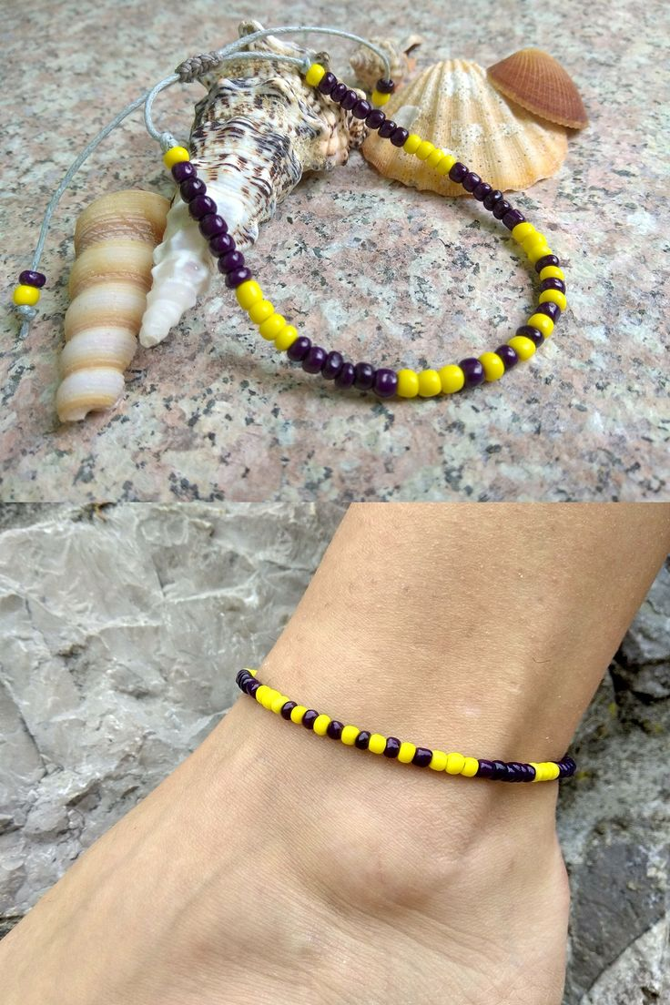 mauve listing anklet il adjustable pink bracelet fullxfull seed waterproof friendship ankle bead
