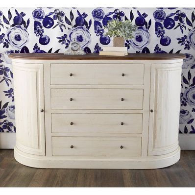 Bow Front Tall Sideboard