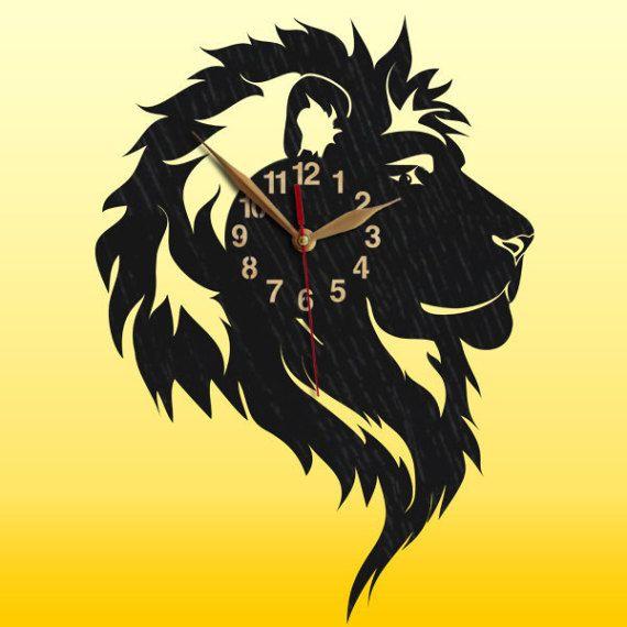 Reloj de pared madera León reloj reloj de madera de