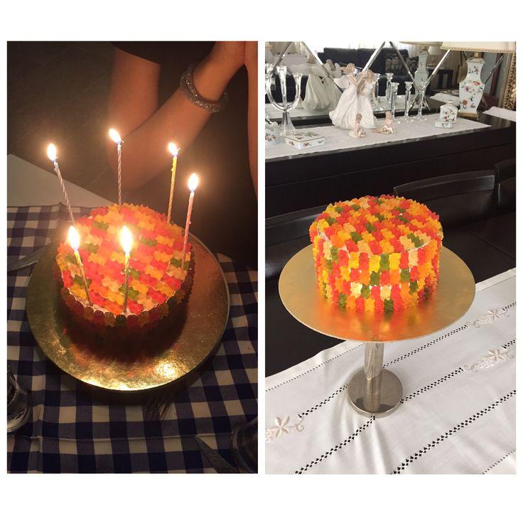 Haribo birthday cake by @begumb