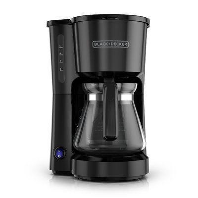 Black & Decker 5-Cup Stainless Steel Coffee Maker Color: Black