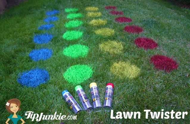Outdoor Lawn Twister Game  {how to make}