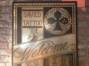 Saved Tattoo in Brooklyn NY. Scott Campbell did tattoos for Heath Ledger and Penelope Cruz