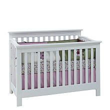 Baby Cache Essentials Flat Lifetime Crib White Baby Cache