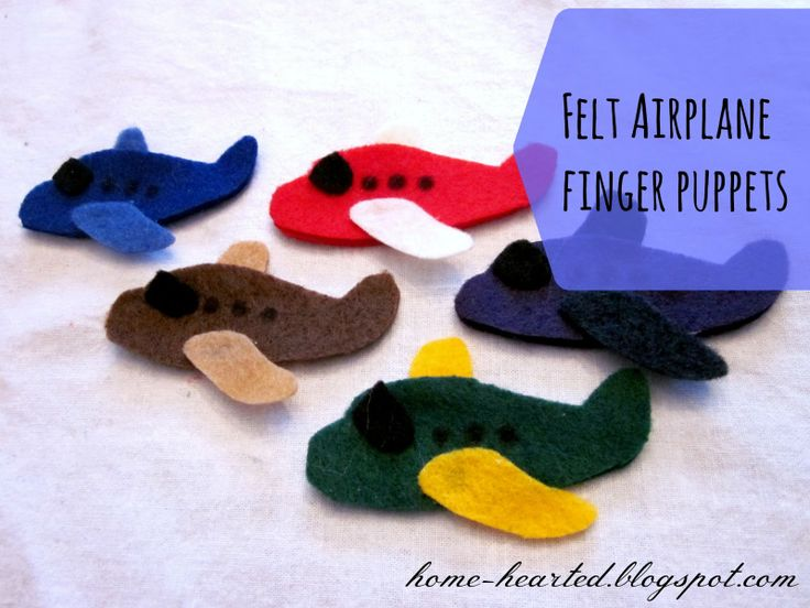 These would be great for inflight entertainment! -> Home Hearted: Felt Airplane Finger Puppets