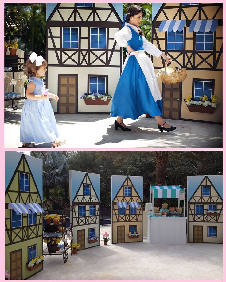 cute village props for this princess Beauty and the Beast party