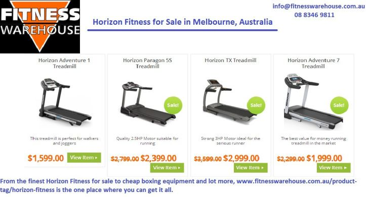 From the finest Horizon Fitness for sale to cheap boxing equipment and lot more, http://www.fitnesswarehouse.com.au/product-tag/horizon-fitness/ is the one place where you can get it all.