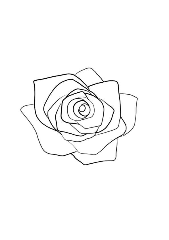 Comment Dessiner Une Fleur En 2020 Dessin Fleur Dessin Rose Fleur Dessin Facile