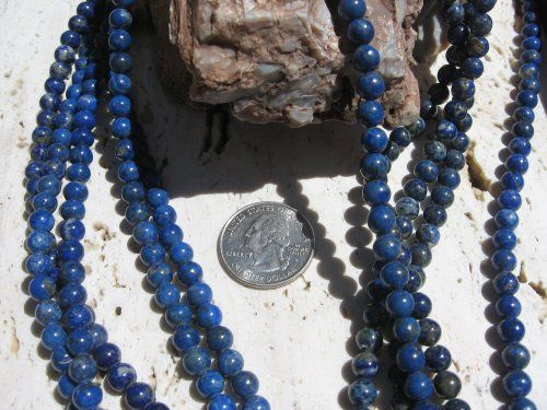 Lapis Lazuli Beads 6mm Denim Rounds