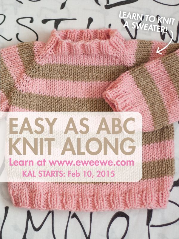 Have you always wanted to learn how to make a sweater? Yes! Knitting is about learning new techniques and one great way to learn how to make a full-size sweater is to start with a tiny one. Our new KAL will be just that! Learn all the basic steps of making a raglan sleeve sweater in while making the Easy As ABC Baby Sweater. This tiny sweater takes just three balls of our Wooly Worsted yarn and is packed with techniques! What will I learn? In the Easy As ABC knit along you'll learn all the…