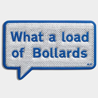 Bollards Sticker, created in collaboration with CHAOS Fashion