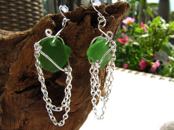 Surf's Up by ShiftingSandsDesigns on Etsy!  Beach Glass / Sea Glass Jewelry