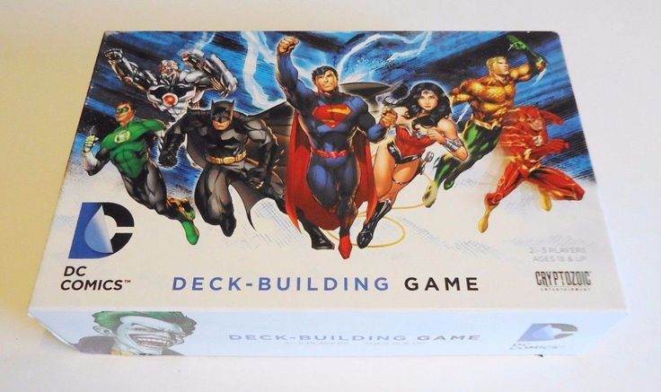 Used Complete 2012 DC Deck Building Game Cryptozoic Games Free Shipping!
