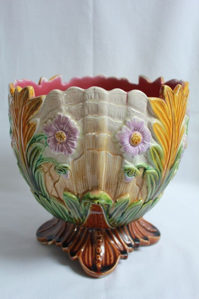 17 best images about majolica jardini res and cache pots for Jardiniere decorative