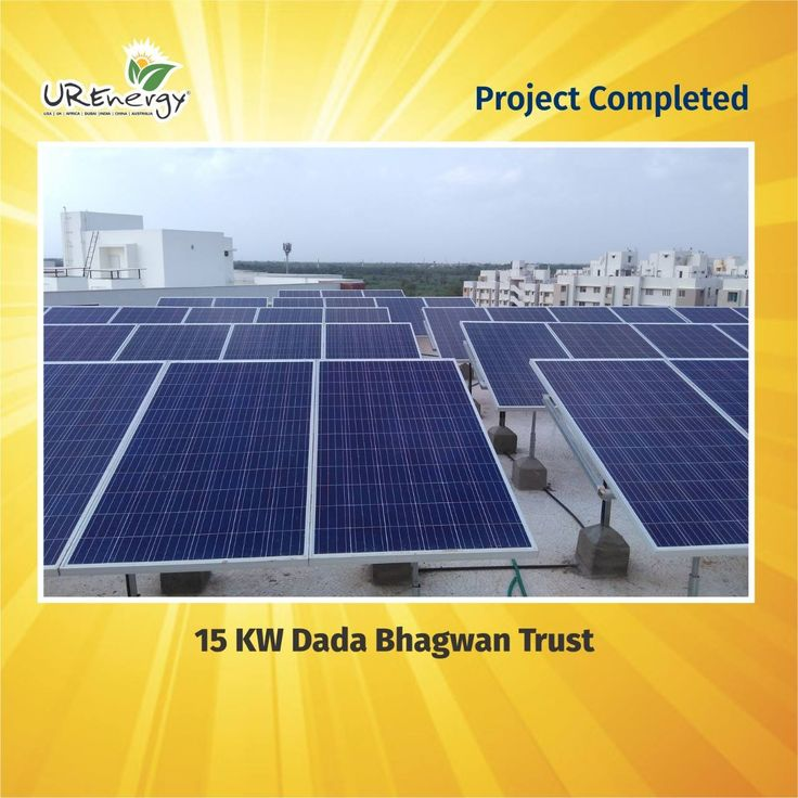 UR-Energy proudly announced that company successfully completed the project of 15 KW Dada Bhagwan Trust. #UREnergy #Project #Solar #Success