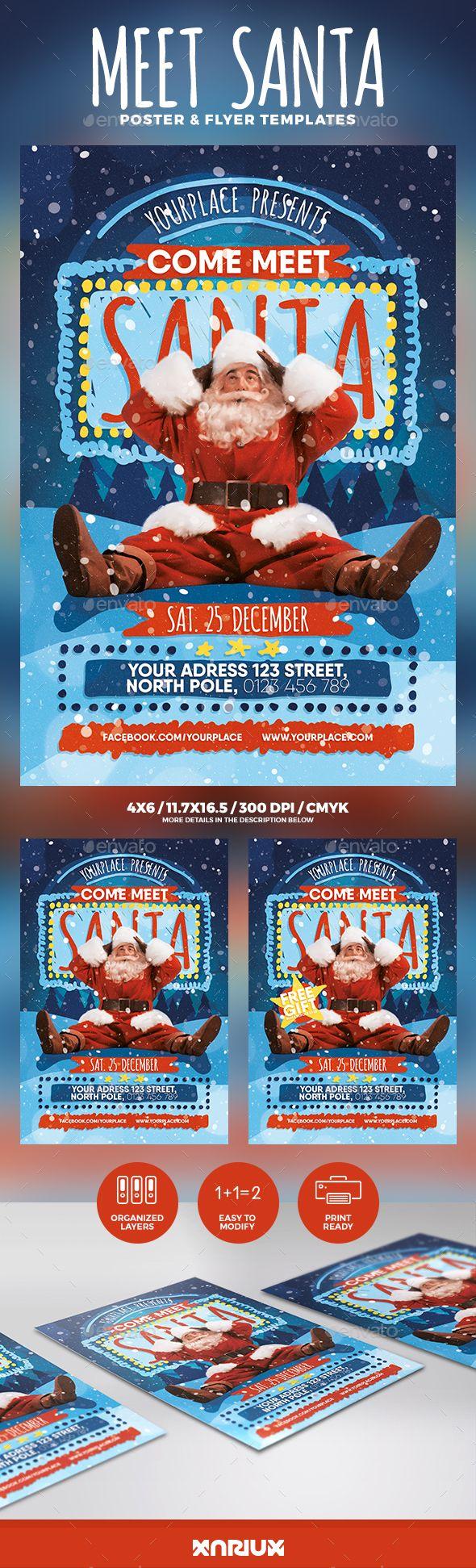 Meet Santa Flyer & Poster Template