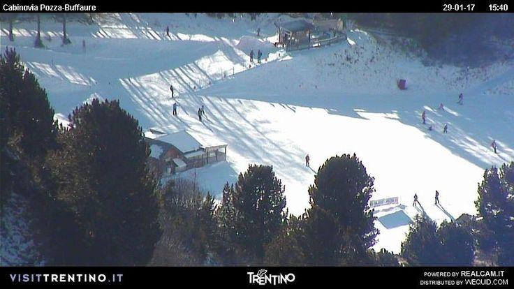 Webcam vista sull'arrivo della seggiovia Col de Valvacin nella skiarea del Buffaure (TN)