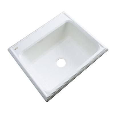 Thermocast Wentworth Drop-In Acrylic 25 in. Single Bowl Kitchen Sink in White-27000 - The Home Depot