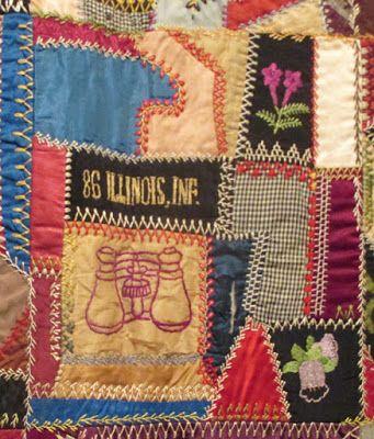 Civil War Quilts. Emma Hurd's 1886 crazy quilt at the Spencer Museum of Art