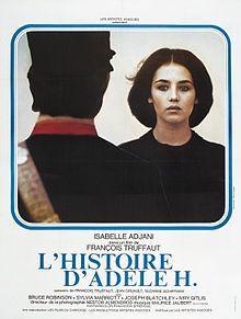 (1975) ~ Isabelle Adjani, Bruce Robinson, Sylvia Marriott. Director: François Truffaut. IMDB: 7.4 _______________________ https://en.wikipedia.org/wiki/The_Story_of_Adele_H. http://www.rottentomatoes.com/m/the_story_of_adele_h/ http://www.tcm.com/tcmdb/title/91515/The-Story-of-Adele-H/ Article: http://www.tcm.com/tcmdb/title/91515/The-Story-of-Adele-H/articles.html http://www.rogerebert.com/reviews/the-story-of-adele-h-1976
