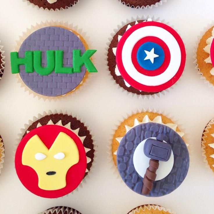 Avengers cupcakes by www.breezyscakes.com.au