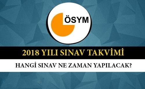 ÖSYM 2018 Yılı Akademik Takvimini Yayınladı