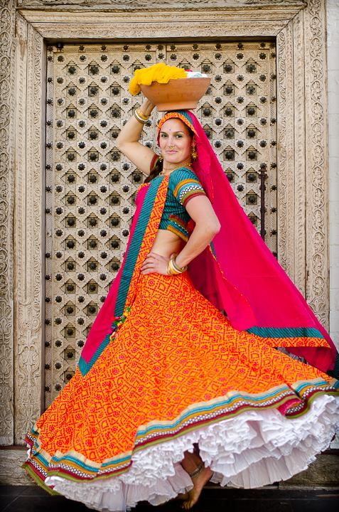 $155 Rajasthani Collection – Orange Bandini