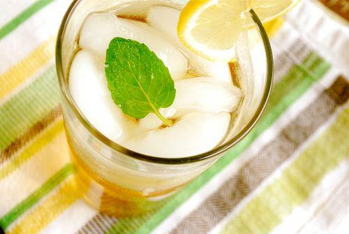 Охлажденный мятный чай с лимоном, чай с лимоном, мятный чай, холодный чай рецепт, холодный чай