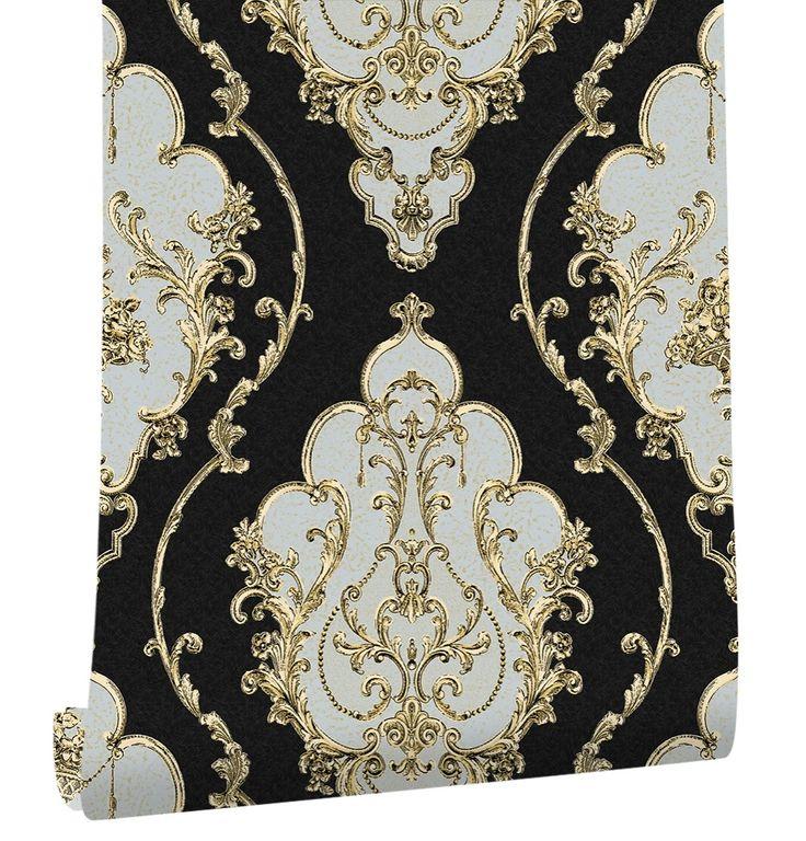 Haokhome Modern Luxury Heavy Texture Victorian Damask