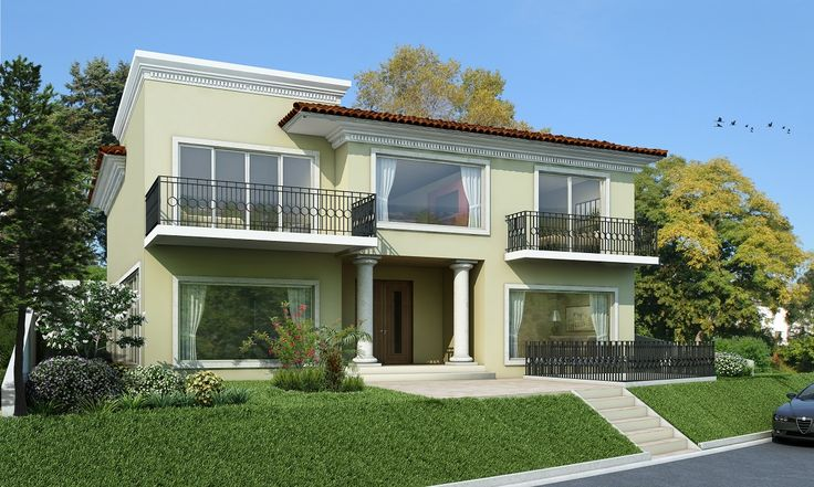 Fachadas en 3D de Casa
