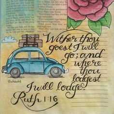 Bible Journaling artwork by Darlene Schacht (pretty darn cool as she has essential tremors too! ) Good creative video :)