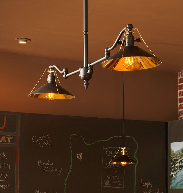 Now available! The Chicago two-arm industrial style chandelier.