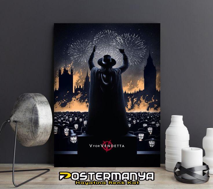 V for Vendetta hayranlarına özel poster ve kanvas tablolar Postermanya'da. #evdekorasyonu #dekorasyonfikirleri #dekorasyonönerileri #postermanya #poster #afiş #tablo #duvardekoru #wall #homedesign #sevgiliyehediye #posters #tasarım #dekorasyon #kanvas #kanvastablo #hediye #sanat #art #dekor #film #posteri #movie #v #vforvendetta