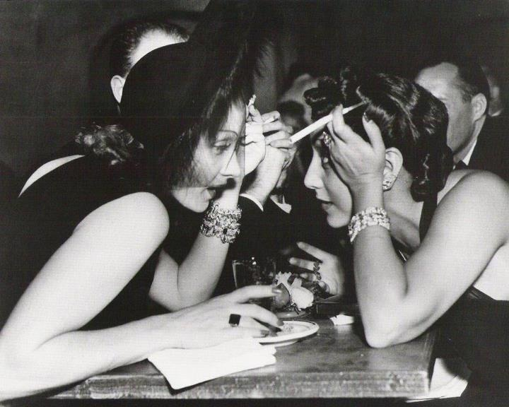 Marlene Dietrich and Audrey, Mrs Billy Wilder,  image by Irene Mayer Selznick