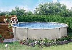 Small Above Ground Pool Deck | above ground pools are the least expensive type of pool construction ...