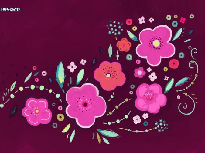 Barbra Ignatiev   Pretty Wallpaper for iPhone, iPad, Desktop, Mobile, HDTV   Art, Print + Pattern