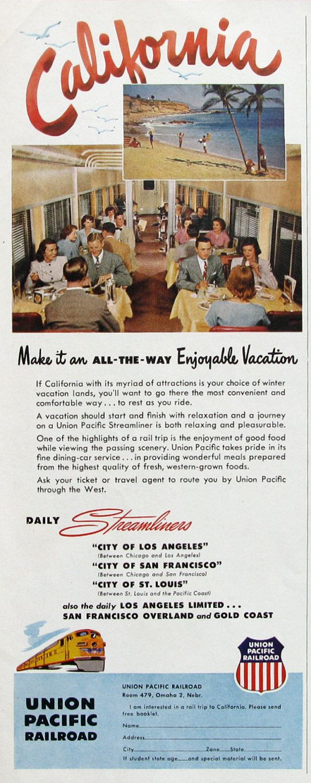1951 Union Pacific Railroad Ad  | #RetroReveries
