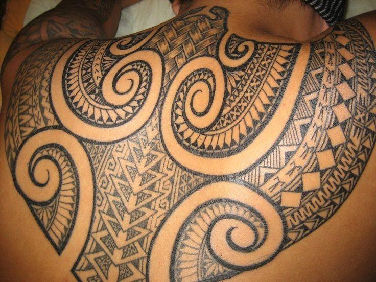 Back tattoo by Fiji Tattoo #maori #tattoo #tattoos