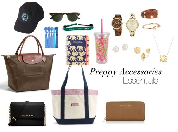 Essentials for a Preppy College Closet: Broken down by Category - Preppy Accessories Essentials